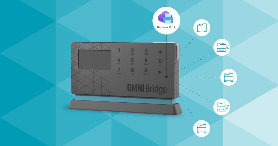 YSoft OMNI okamžitě a bezpečně připojí tiskárnu ke službě Universal Print od Microsoft